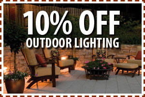 Coupon for 10 percent off outdoor lighting